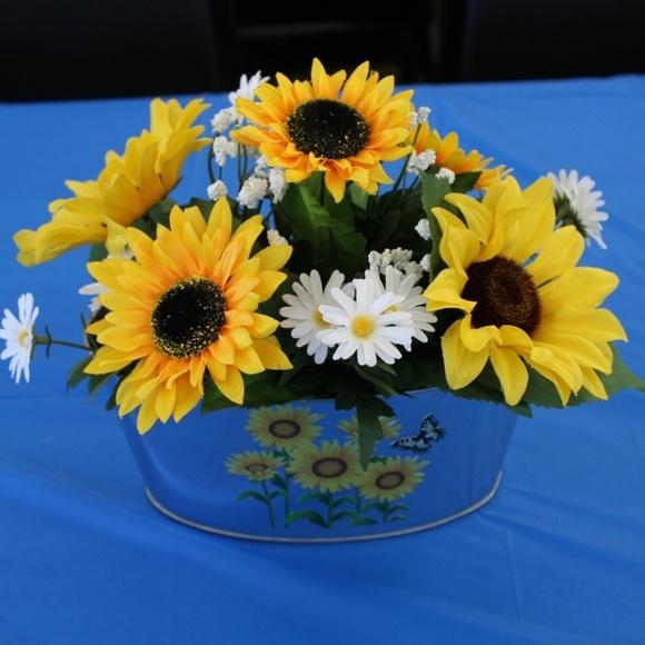 Party Supplies 4 Handmade Sunflowerdaisy Wedding Centerpieces Poshmark